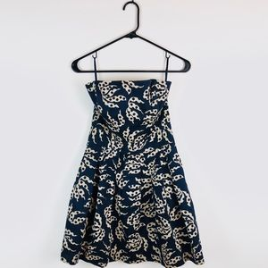French Connection Tube Top Flared Dress G30
